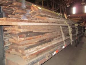 05-01-2013 Large Loads Flooring Beams coming into Lumberyard 003